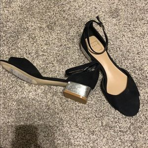 Never worn Kaari blue low block heel